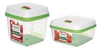 Sistema 2 boîtes de conservation FreshWorks 1,5 l + 2,6 l-commercieel beeld