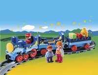 Playmobil 1.2.3 6880 Train étoilé avec passagers et rails-Image 1