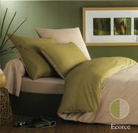 Origin dekbedovertrek Ecorce groen bamboe 240 x 220 cm