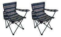 Nordic Master Chaise de camping Kidz Boy bleu foncé - 2 pièces