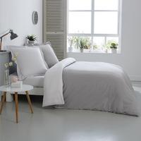 Home lineN Dekbedovertrek grijs/wit katoen 200 x 200 cm-Afbeelding 2