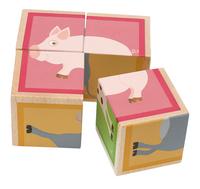 Scratch Europe houten blokkenpuzzel Boerderij-commercieel beeld