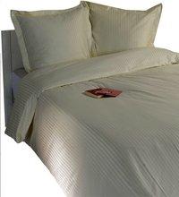 Sleepnight Housse de couette Satinada vertical satin de coton ivoire 240 x 220 cm-Image 1