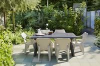 Allibert chaise de jardin Dante - dossier bas cappuccino-Image 1