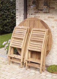 ScanCom chaise pliante Ceram teck-Image 2