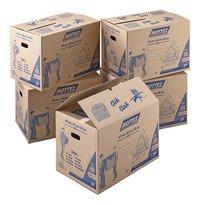 Mottez Boîte de déménagement carton brun 96 l - 5 pièces-commercieel beeld
