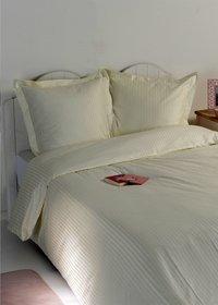 Sleepnight Housse de couette Satinada vertical satin de coton ivoire 240 x 220 cm-Image 3