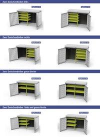 Biohort set d'étagères pour coffre de rangement HighBoard 200 x 84 cm-Détail de l'article