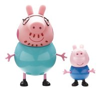 2 Figurines Peppa Pig Papa Pig & George