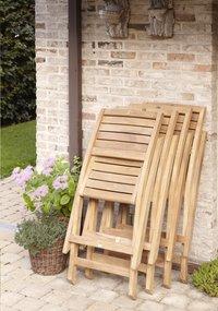 ScanCom chaise pliante Ceram teck-Image 1