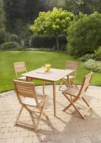 ScanCom table de jardin Malasa teck 90 x 90 cm-Image 1