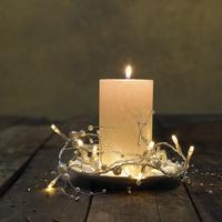 Guirlande lumineuse LED perles L 1,2 m blanc chaud