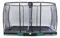 EXIT trampoline enterré avec filet de sécurité Elegant Ground Premium Deluxe L 3,66 x Lg 2,14 m vert-Avant