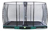 EXIT trampoline enterré avec filet de sécurité Elegant Ground Economy L 3,66 x Lg 2,14 m groen-Avant