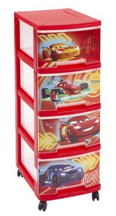 Curver bloc-tiroirs à 4 tiroirs Disney Cars