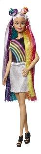 Barbie poupée mannequin  Cheveux arc-en-ciel pailleté-commercieel beeld