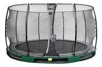 EXIT inbouwtrampoline met veiligheidsnet Elegant Ground Economy diameter 4,27 m groen-Vooraanzicht