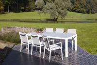 Ensemble de jardin Danli/Forios gris clair/blanc avec verre