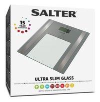 Salter Pèse-personne/impédancemètre Ultra Slim SA9158SV3R gris argenté-Côté gauche