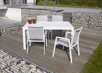 Jati & Kebon verlengbare tuintafel Livorno wit 152 x 90 cm-Afbeelding 1