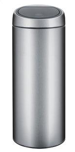 Brabantia poubelle Touch Bin 30 l acier mat