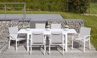 Ensemble de jardin Livorno/Forios gris clair/blanc 152 x 90 cm