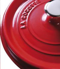 Staub Cocotte ronde rouge cerise-Détail de l'article