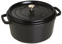 Staub ronde stoofpan zwart 24 cm - 3,8 l