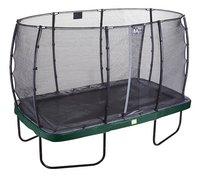 EXIT ensemble trampoline Elegant Economy L 3,66 x Lg 2,14 m vert-Côté gauche