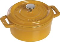 Staub cocotte ronde moutarde