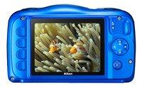 Nikon digitaal fototoestel Coolpix W100 blauw-Achteraanzicht