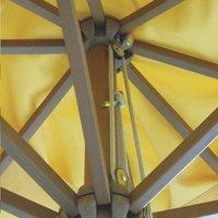 Parasol de luxe en bois FSC diamètre 3,5 m terracotta-Image 2