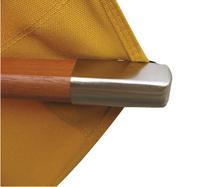 Parasol de luxe en bois FSC diamètre 3,5 m terracotta-Image 1