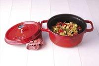 Staub Cocotte ronde rouge cerise 28 cm - 6,7 l-Image 2