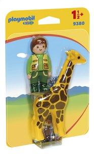 PLAYMOBIL 1.2.3 9380 Soigneur avec girafe-Côté gauche