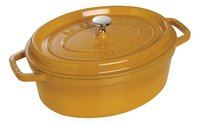 Staub cocotte ovale moutarde