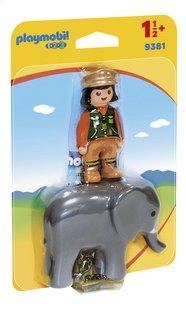 PLAYMOBIL 1.2.3 9381 Soigneuse avec éléphanteau-Côté gauche