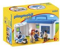 PLAYMOBIL 1.2.3 9382 Commissariat de police transportable-Côté gauche
