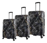 Saxoline set de 3 valises rigides Marble Black-commercieel beeld