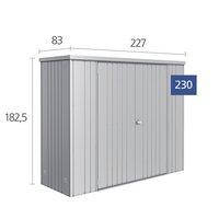 Biohort tuinkast  metallic kwartsgrijs 227 x 83 x 182,5 cm-Artikeldetail