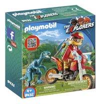 PLAYMOBIL The Explorers 9431 Pilote de moto et raptor-Côté gauche