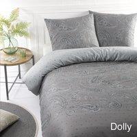Papillon Dekbedovertrek Dolly grijs katoensatijn 140 x 220 cm-commercieel beeld