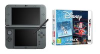 Nintendo console New 3DS XL noir + Frozen / Big Hero 6 Double pack FR/NL