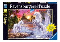 Ravensburger puzzel Eenhoorns bij de rivier-Vooraanzicht