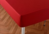 Sleepnight drap-housse Satinada rouge en satin de coton 180 x 200 cm