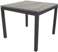 Table de jardin Marbella grey wash/anthracite L 90 x Lg 90 cm