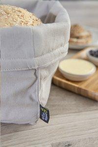 Point-Virgule tissu pour panier à pain walnut