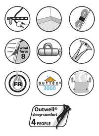 Outwell Familietent Aspen 500-Artikeldetail