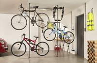 Mottez Fietsenrek met telescopische paal voor 2 fietsen-Afbeelding 7