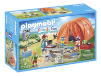 PLAYMOBIL Family Fun 70089 Tente et campeurs-Côté gauche